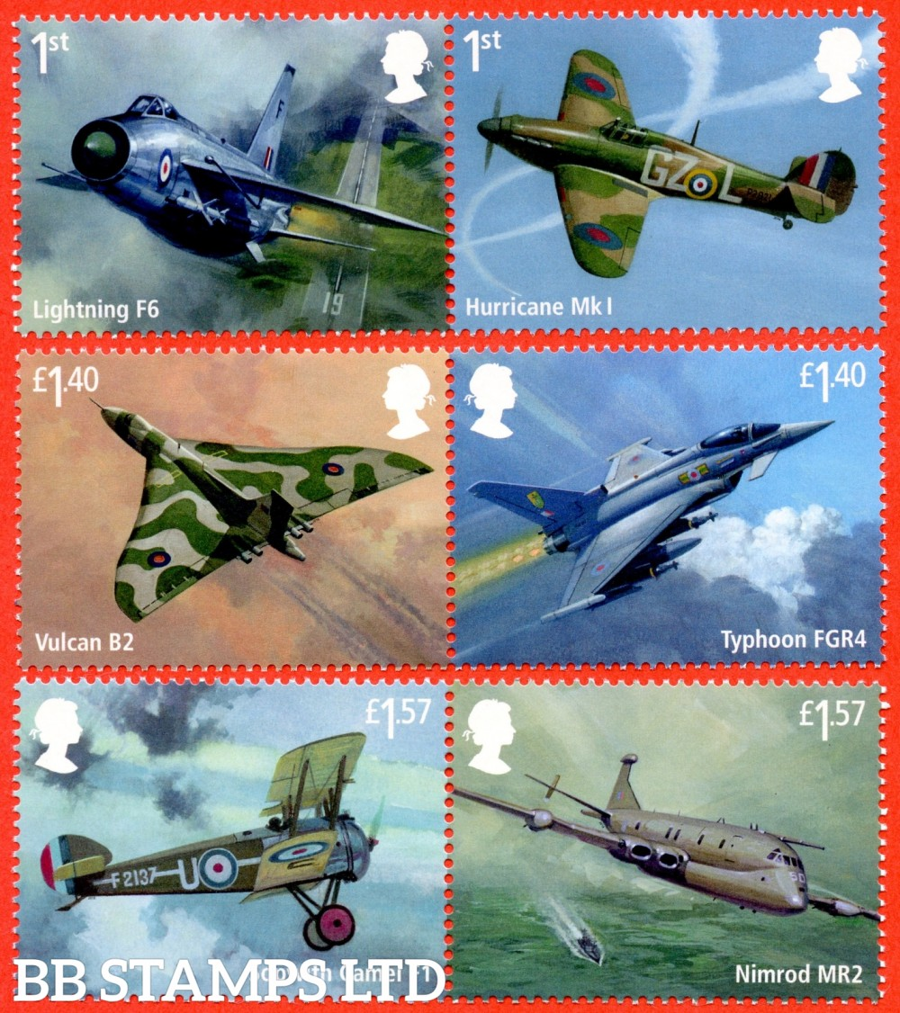 2018 The RAF Centenary: 100 Years of RAF (PACK: Incudes Red Arrows Minisheet NO BARCODE)