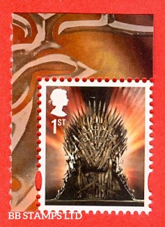 2018 1st Class Gummed Iron Throne Ex DY24 Game of Thrones: Walsall (ISP) Litho