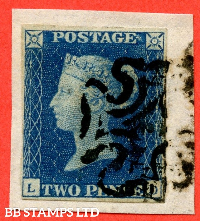 "SG. 5. D1 (2) uc. DS8. "" LD "". 2d blue. Plate 2. A fine used example cancelled by a black maltese cross."