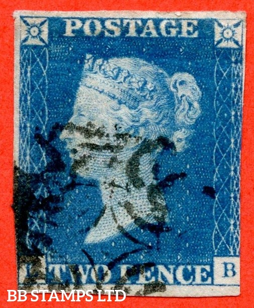"SG. 6. D1 (3) uc. DS6. "" LB "". 2d pale blue. Plate 1. A fine used example with the "" Ray flaw 10 NE square "" variety."