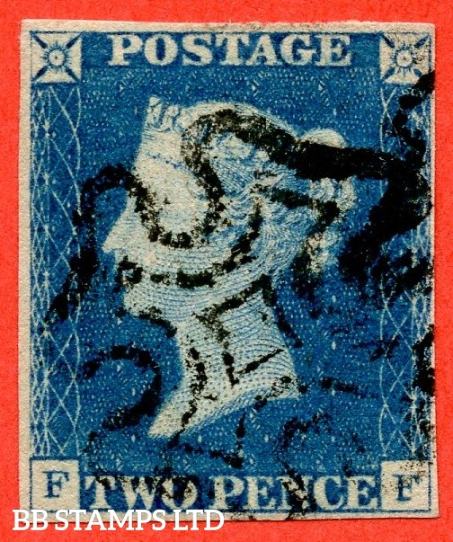 "SG. 5. D1 (2) uc. DS5. "" FF "". 2d blue. Plate 1. A fine used example with the "" Ray flaws 2 10 & 11 NE square "" variety."