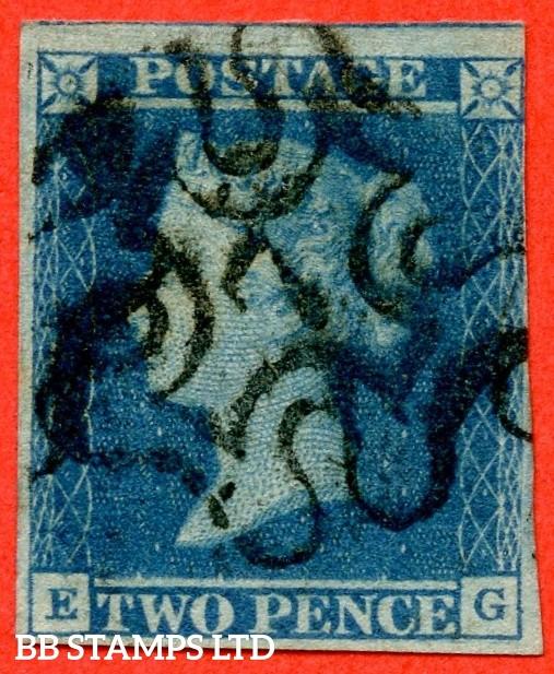 "SG. 14 f. E1 vg. ES11 f. "" EG "". 2d blue "" 7 "" in Maltese Cross. Plate 3. A fine used example."
