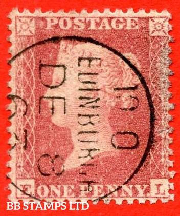 """SG. 40b. C13 (1). """" EL """". Plate R15. A very fine """" 8th December 1863 EDINBURGH """" CDS used example."""