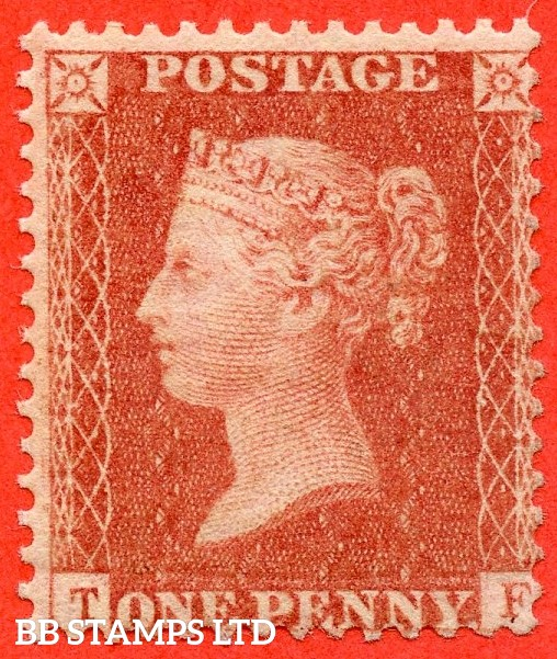 """SG. C9 (3). """" TF """". 1d pale red. Plate 46. A fine UNMOUNTED MINT example with excellent colour."""