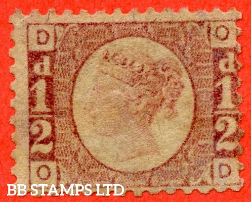 "SG. 48/49. G4. "" OD "". ½d Rose - red plate 9. An average mounted mint example."