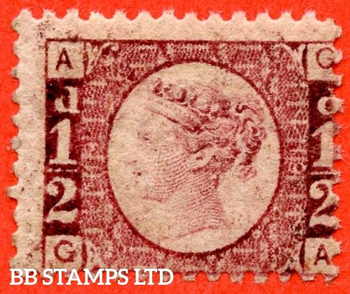 "SG. 48/49. G4. "" GA "". ½d rose - red plate 19. A fine UNMOUNTED MINT example."
