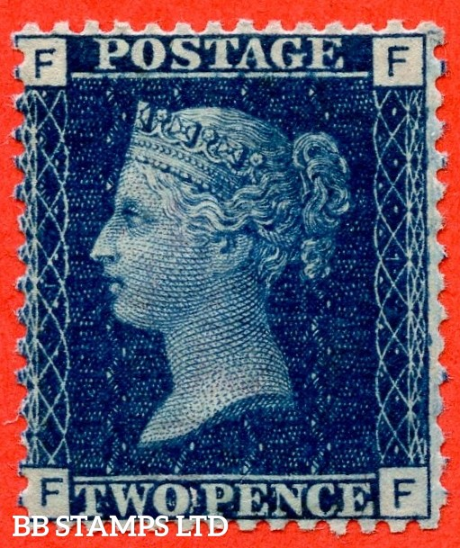 """SG. 47. G3 (2). """" FF """". 2d deep blue. Plate 15. A superb UNMOUNTED MINT example complete with BPA certificate."""
