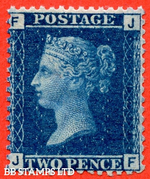 "SG. 45. G2. "" JF "". 2d blue. Plate 12. A very fine mounted mint example."