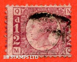"""SG. 48/49. G4. """" MQ """". ½d Rose - red plate 9. An average used example of this difficult plate number."""