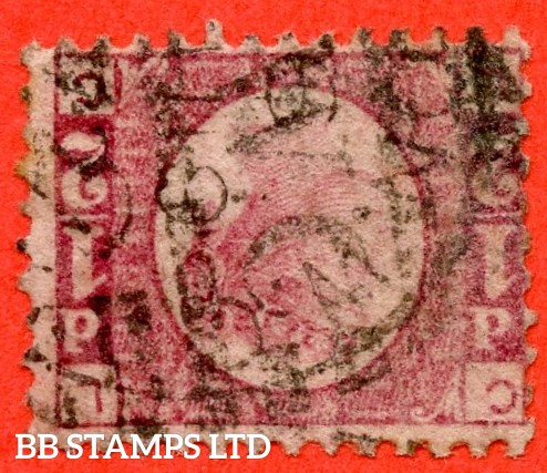 """SG. 48/49 wk. G4 e. """" LC """". ½d Rose - red plate 3. INVERTED & REVERSED  WATERMARK.  A good used example of this scarce watermark variety."""