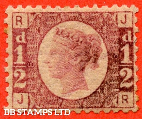 "SG. 48/49. G4. "" JR "". ½d rose - red plate 8. A fine UNMOUNTED MINT example."