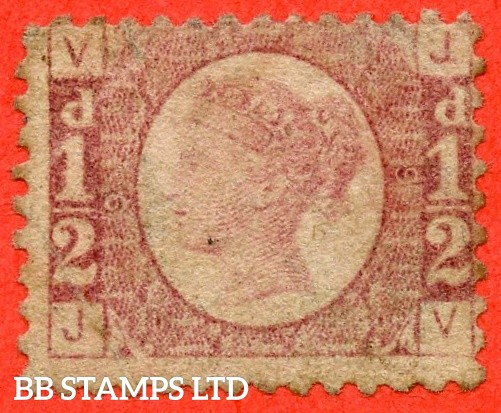 "SG. 48/49. G4. "" JV "". ½d Rose - red plate 9. An average mounted mint example of this difficult plate number."