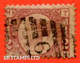 """SG. 48/49. G4. """" TH """". ½d Rose - red plate 9. A good used example of this difficult plate number."""