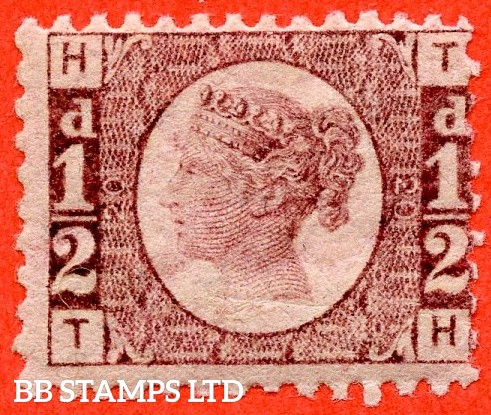 "SG. 48/49. G4. "" TH "". ½d rose - red plate 20. A fine UNMOUNTED MINT example."