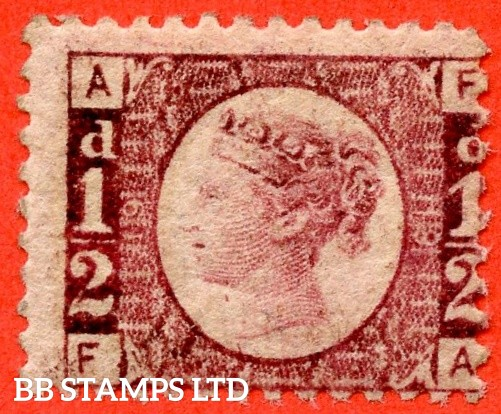 """SG. 48/49. G4. """" FA """". ½d rose - red plate 19. A fine UNMOUNTED MINT example."""