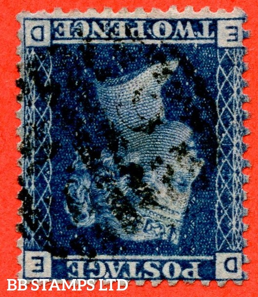 """SG. 45wi. G2 d. """" ED """". Plate 12. INVERTED WATERMARK. A fine used example of this very scarce watermark variety."""