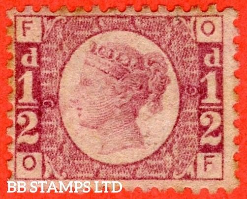 "SG. 48/49. G4. "" OF "". ½d Rose - red plate 9. A fine mounted mint example of this difficult plate number."