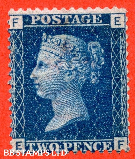 """SG. 46. G3 (1). """" EF """". 2d Blue. Plate 15. An average mounted mint example."""