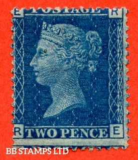 "SG. 46. G3 (1). "" RE "". 2d blue. Plate 15. A very fine UNMOUNTED MINT example."