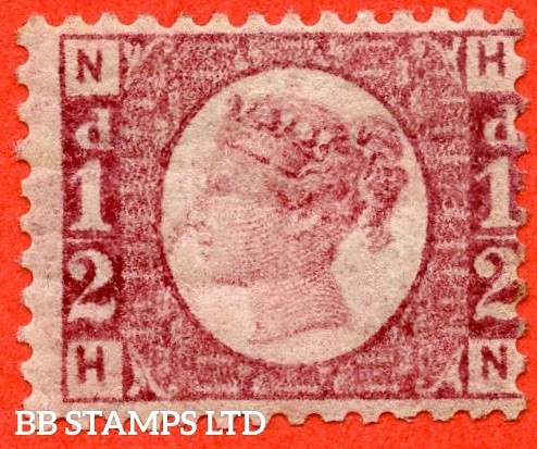 """SG. 48/49. G4. """" HN """". ½d rose - red plate 3. A fine UNMOUNTED MINT example."""