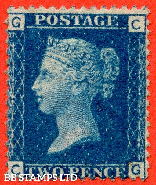 """SG. 46. G3 (1). """" CG """". 2d blue. Plate 13. A fine mounted mint example."""