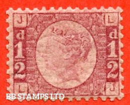 "SG. 48/49. G4. "" LJ "". ½d rose - red plate 19. A SUPERB UNMOUNTED MINT example.  Complete with RPS certificate."