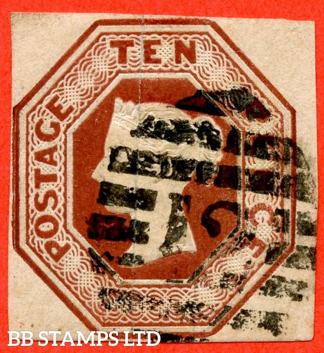 SG. 57. H2 (2). 10d deep brown. A fine used example.