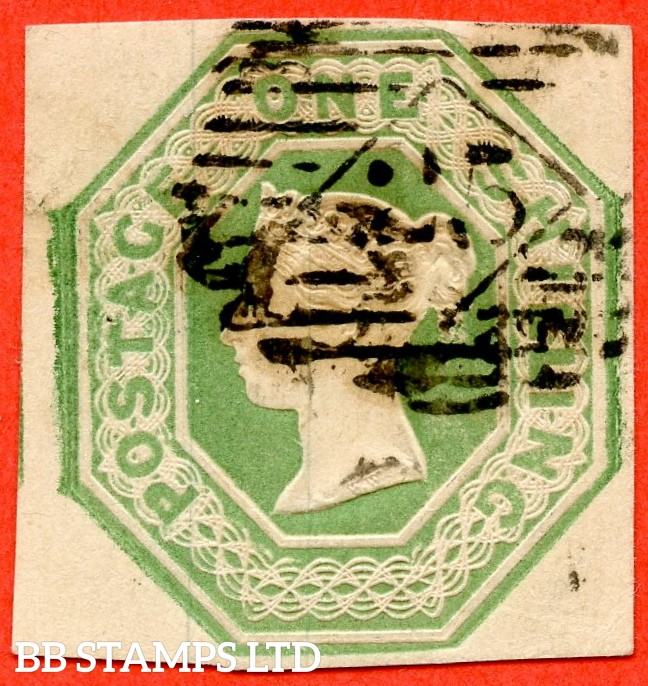 SG. 55. H1 (2). 1/- green. Die 1. A fine used example.