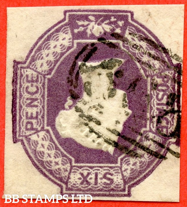 "SG. 60 wk. H3 (3) f. 6d purple. "" INVERTED & REVERSED WATERMARK "". A very fine used example."