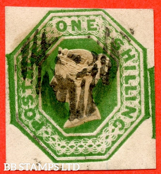 SG. 56. H1 (3). 1/- deep green. Die 1. A fine used example
