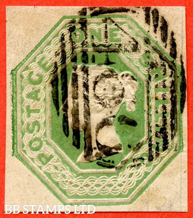 SG. 55. H1 (2). 1/- green. A fine used example.