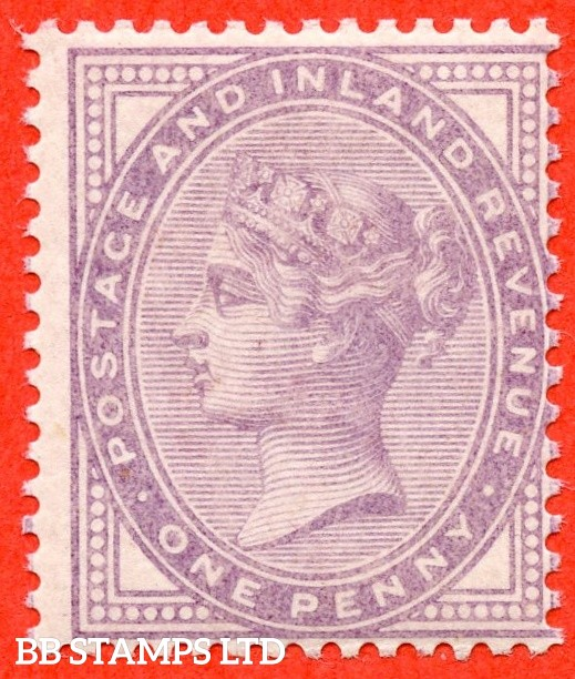 SG. SG. 170 variety K7 (2). 1d bluish lilac. A fine UNMOUNTED MINT example of this very scarce Queen Victorian shade complete with HENDON certificate.