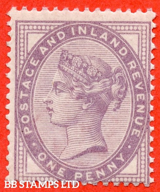 SG. 172a. K8 (2). 1d Bluish lilac. An UNMOUNTED MINT example of this very scarce Queen Victorian shade complete with Brandon certificate.