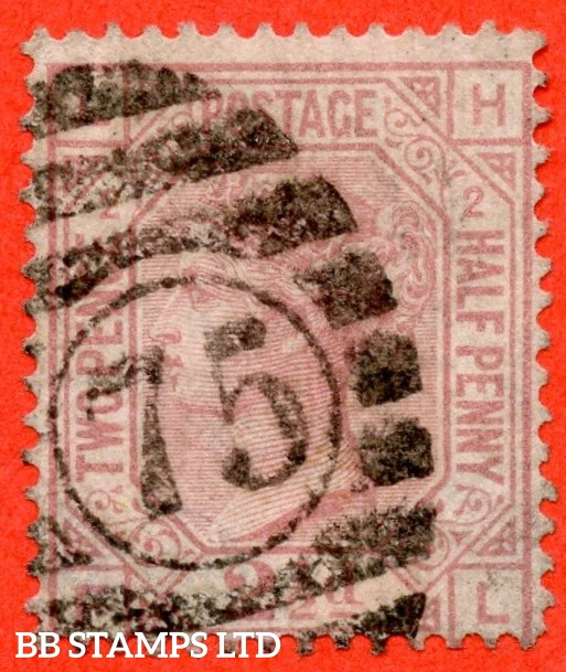 "SG. 140. J2 b. "" LH -- FL "". 2½d rosy mauve. Plate 2. "" ERROR OF LETTERING "". A good / fine used example of this RARE Victorian variety."