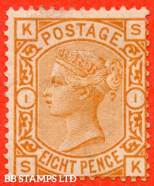 "SG. 156. J91A. "" SK "". 8d orange. A fine mounted mint example."
