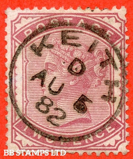 """SG. 168. K5 (1).  2d pale rose. A superb """" 5th August 1882 KEITH """" CDS used example complete with RPS certificate."""