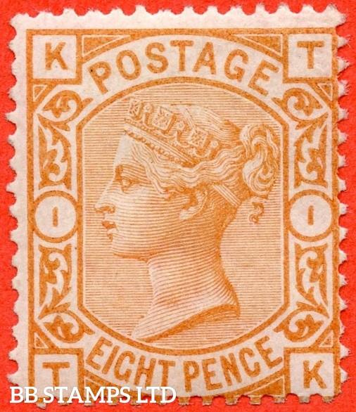 "SG. 156. J91A. "" TK "". 8d orange. An average mint example."