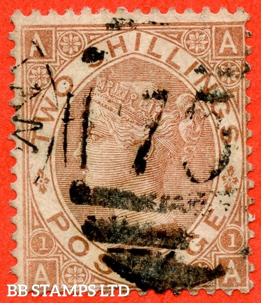 "SG. 121. J120. "" AA "". 2/- Brown. A good used example of this scarce Victorian issue."