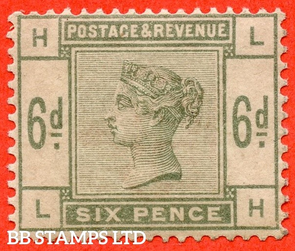 "SG. 194. K24. "" LH "" 6d Dull green. A fine UNMOUNTED MINT example."