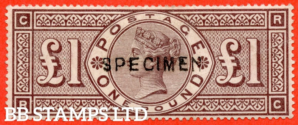 """SG. 185 s. K15 t. """" RC """". £1.00 brown - lilac. A mounted mint example overprinted SPECIMEN type 11."""