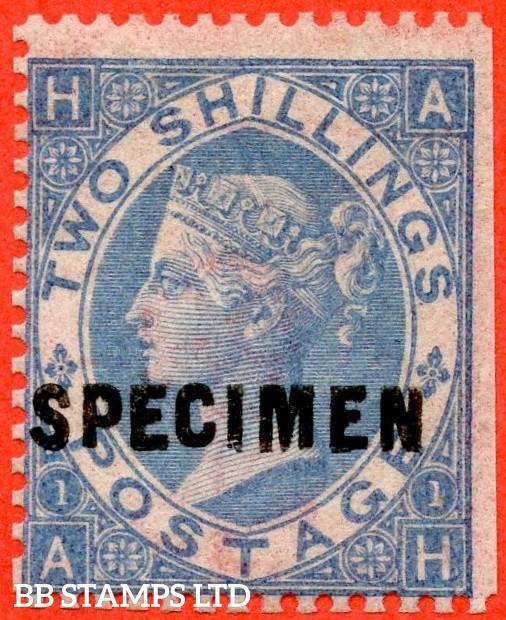 "SG. 120 a s. J118 (4) u. "" AH "". 2/- Cobalt. An average mint example overprinted SPECIMEN type 5.."