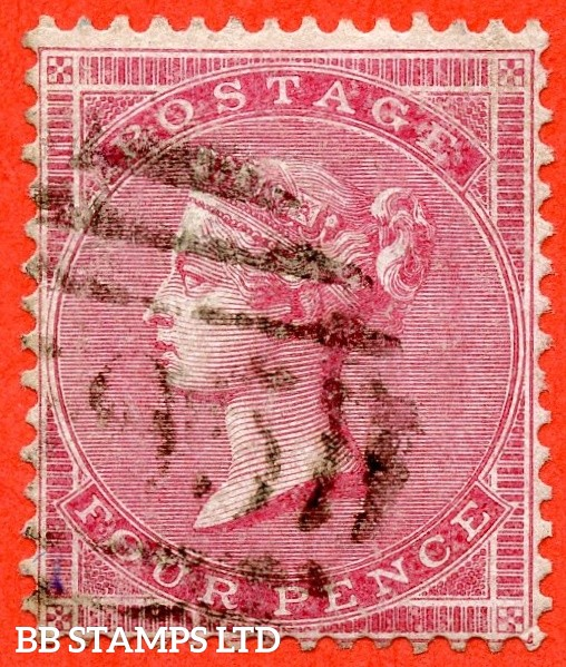 SG. 63a. J48 (2) c. 4d carmine. Medium Garter. Thick white paper. A very fine used example. A RARE stamp which is unpriced in SG and complete with BPA certificate.