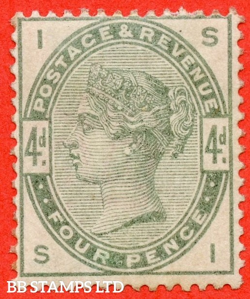 "SG. 192. K22. "" SI "". 4d dull green. A very fine mounted mint example."