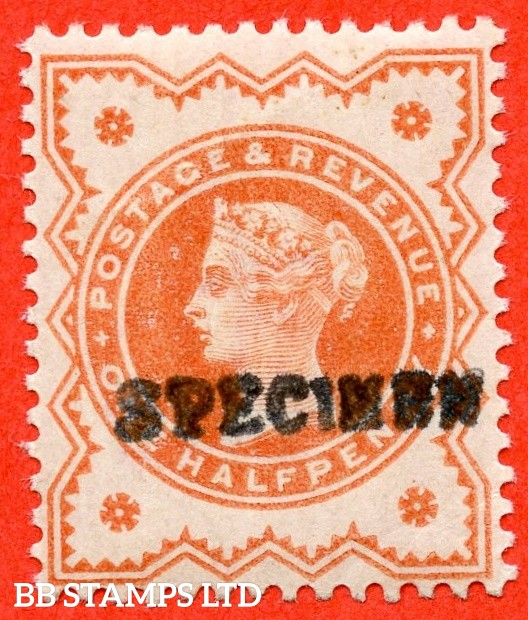 SG. 197 s. Variety K27 (4) s. ½d Pale Vermilion. A very fine UNMOUNTED MINT example overprinted by SPECIMEN type 9.