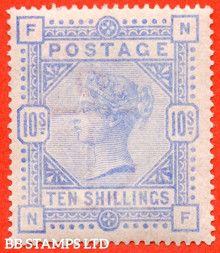 "SG. 183a. K14 (3). "" NF "". 10/- Pale ultramarine.  A very fine UNMOUNTED MINT example of this more difficult shade."