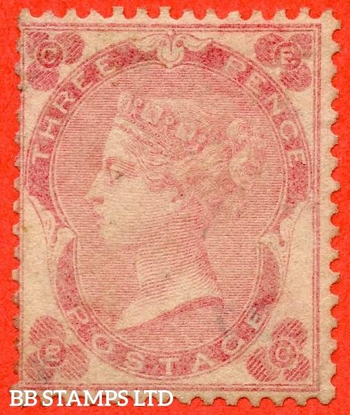 "SG. 77. J26 (3). "" EC "". 3d pale carmine - rose. An average mounted mint example."