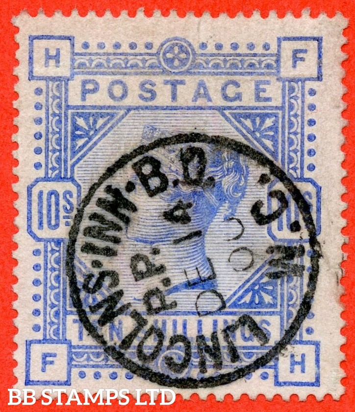 "SG. 183. K14 (2). "" FH "". 10/- ultramarine. A very fine "" 14th December 1900 LINCOLNS INN "" CDS used example."
