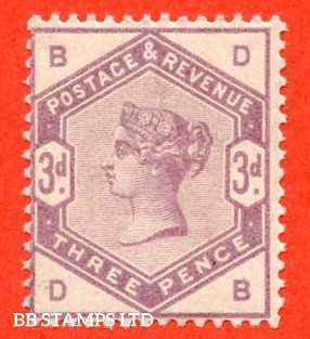"SG. 191. K21. "" DB "". 3d Lilac. A fine UNMOUNTED MINT example."