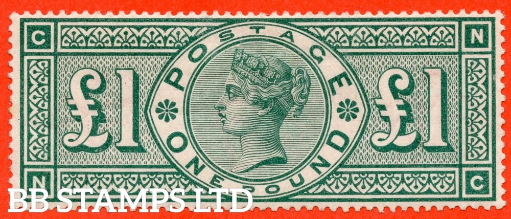 "SG. 212. K17. £1.00 Green "" NC "". A fine lightly mounted mint example of this popular stamp."