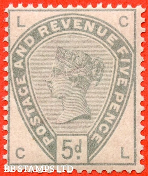 """SG. 193. K23. """" CL """". 5d dull green. A fine UNMOUNTED MINT example."""